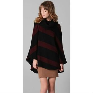 alice + olivia SPARROW Striped Merino Knit Poncho